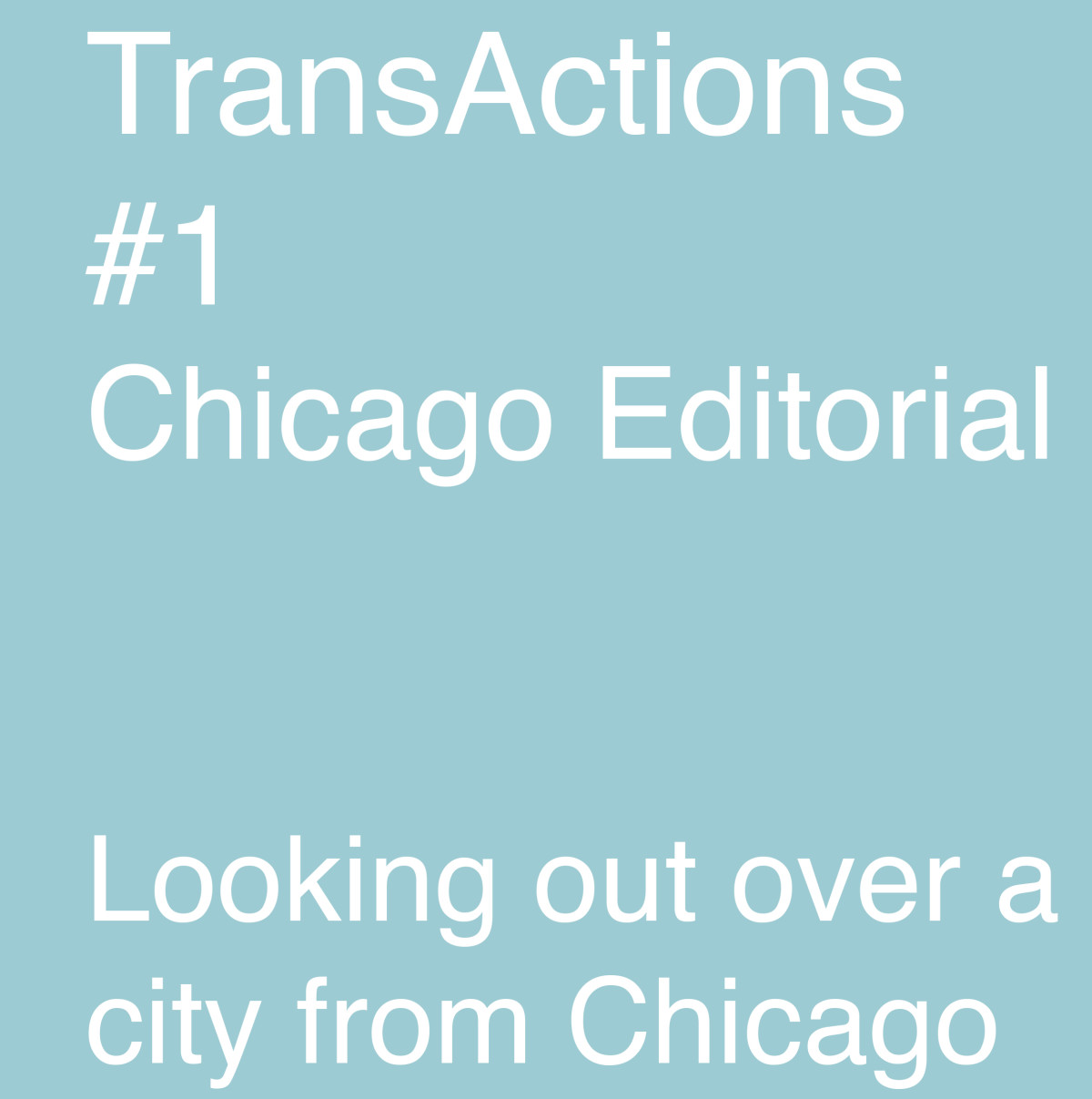 Chicago editorial 1